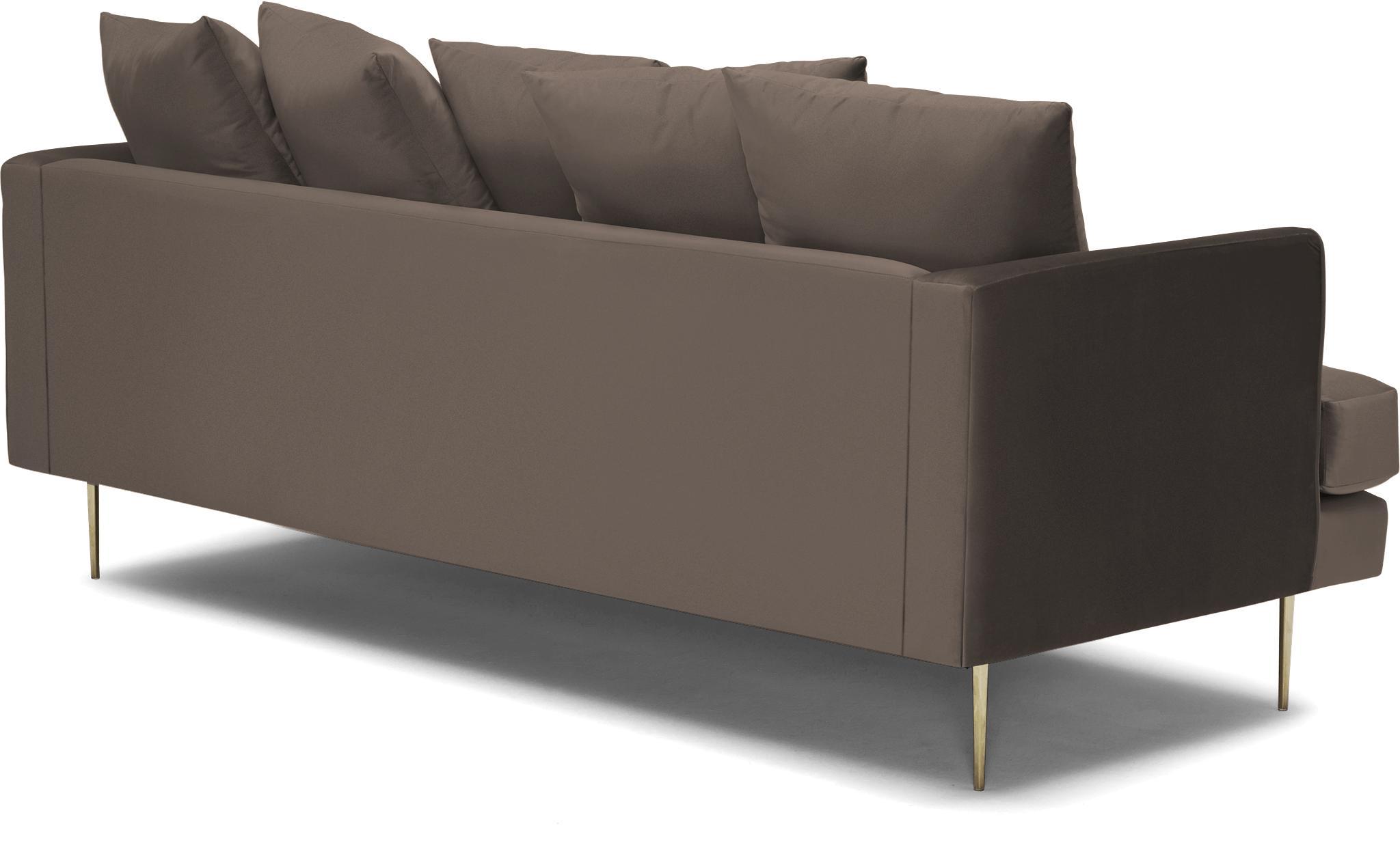Brown Aime Mid Century Modern Sofa - Dawson Brindle