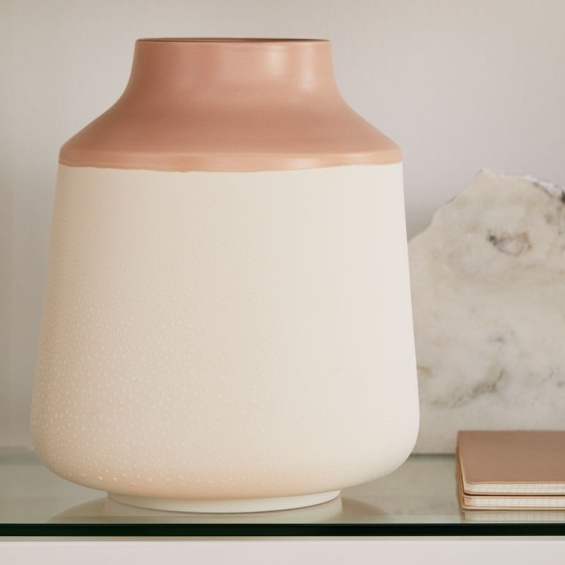 Allondra Rose and White Ceramic Vase