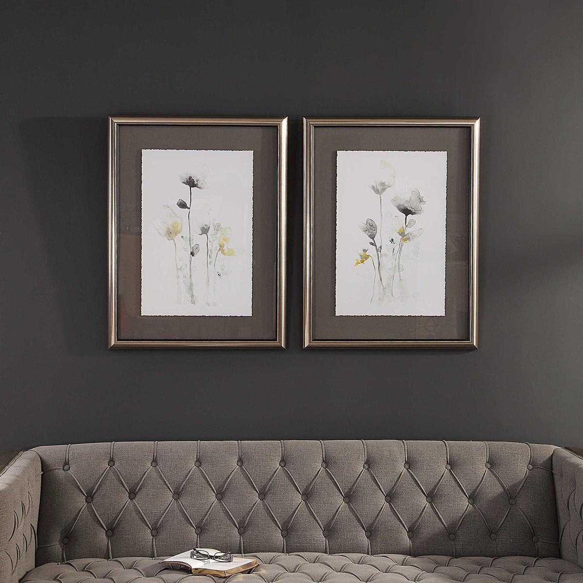 """Stem Illusion Framed Prints, 26"""" x 34"""", Set of 2"""