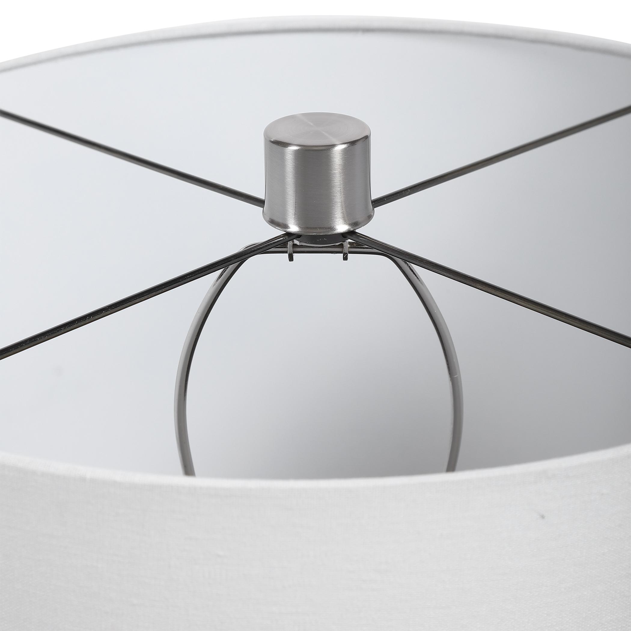 Azariah White Crackle Table Lamp