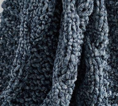 "Colossal Handknit Throw, 44 x 56"", Heathered Gray"