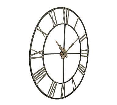 Oversized Galvanized Wall Clock
