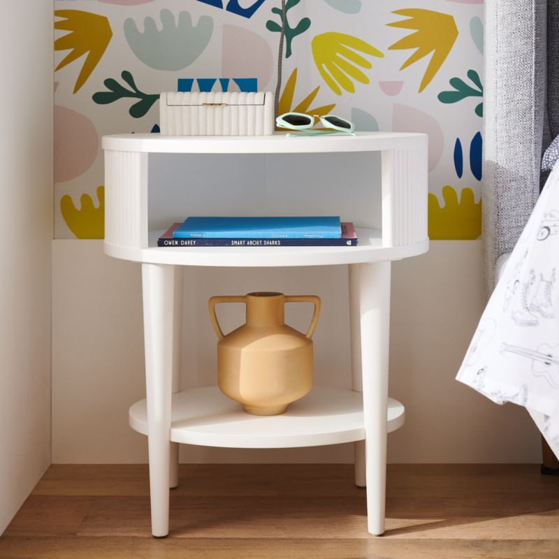 Roselle Round Wood Nighstand