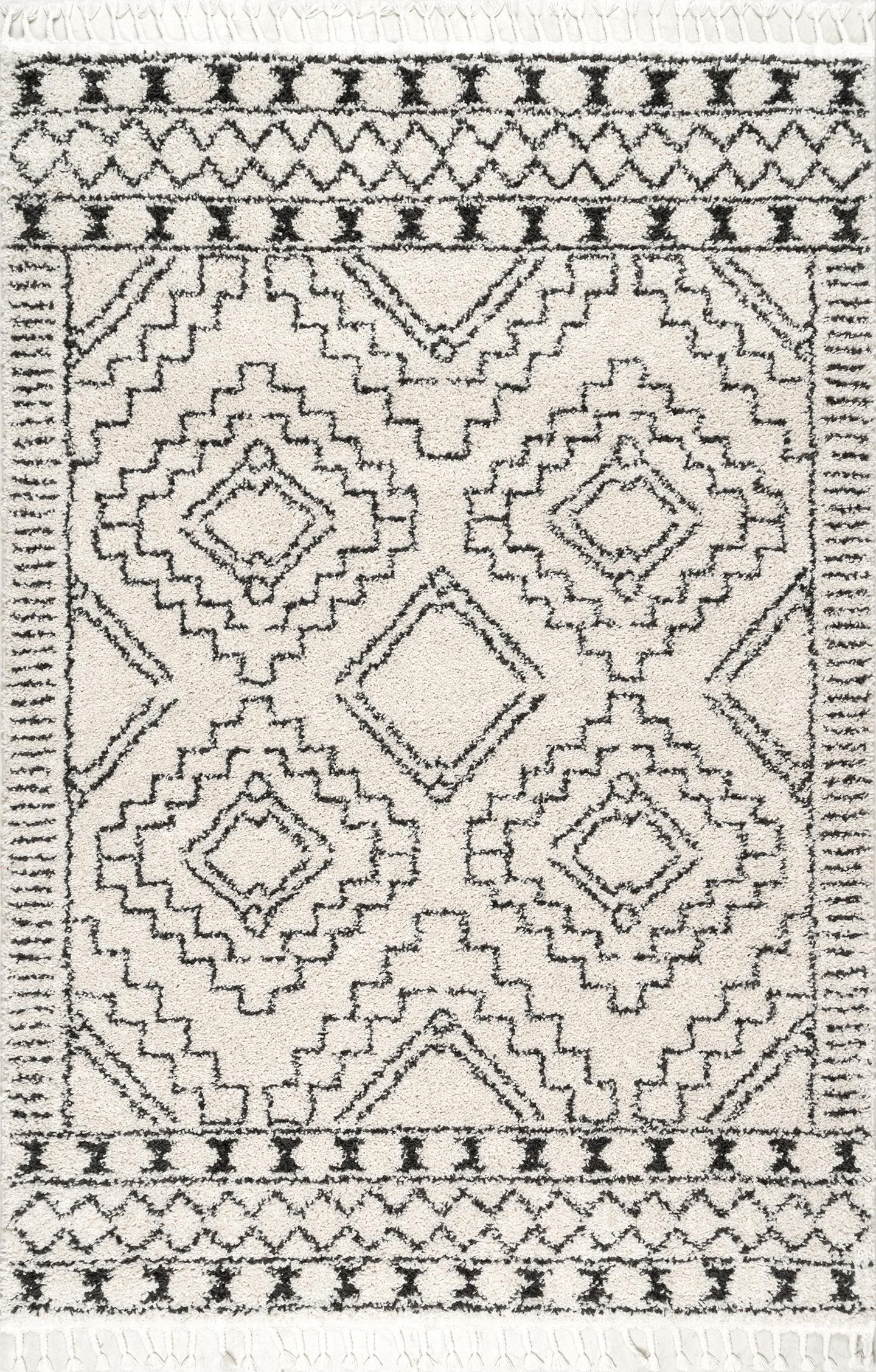 Vasiliki Moroccan Tribal Tassel Rug Area Rug