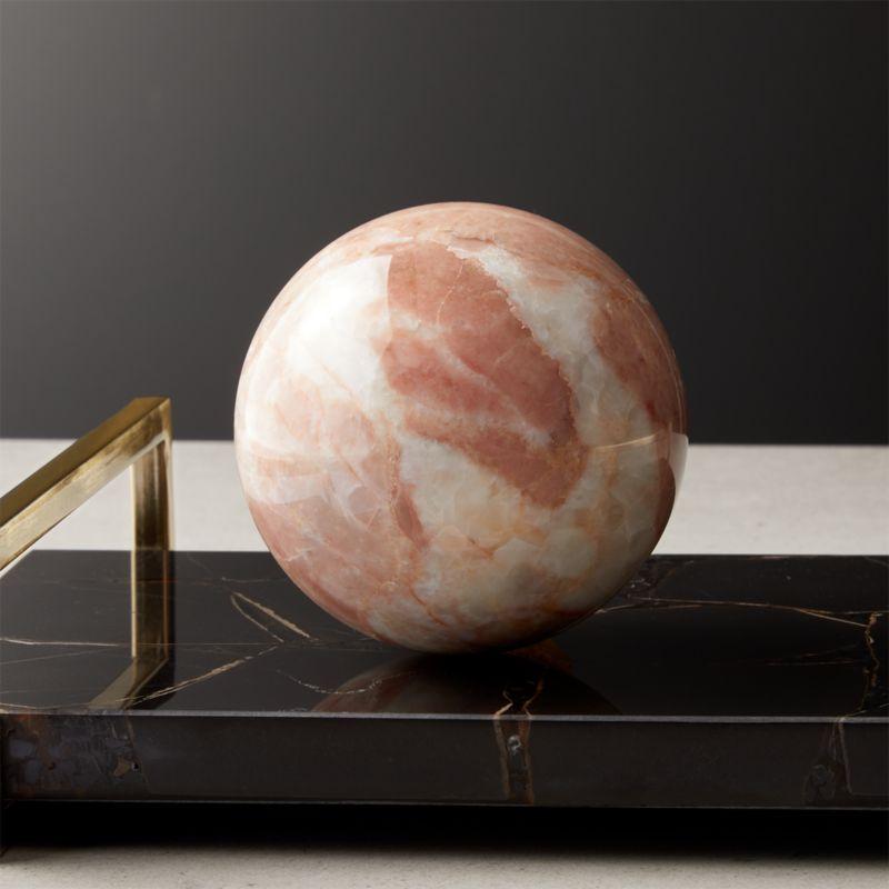 Pink Marble Sphere