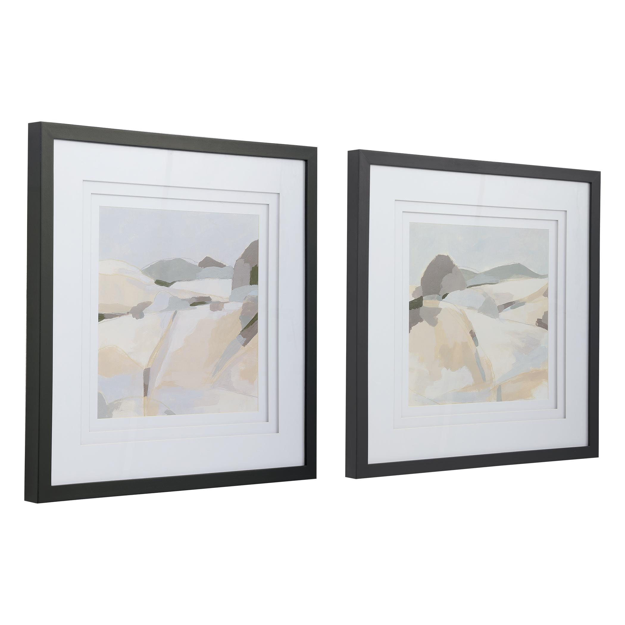 Framed Western Landscape Prints, Set of 2