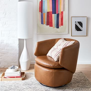 Asymmetric Floor Lamp, White, White Linen