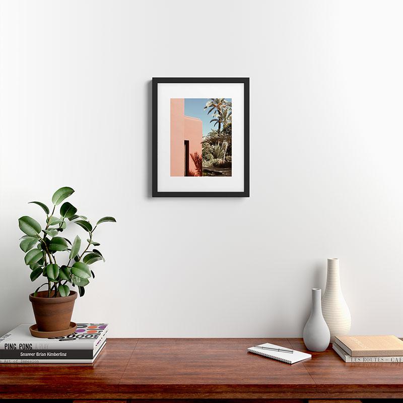 "Hacienda by Gale Switzer - Modern Framed Art Print, Black, 16"" x 20"""