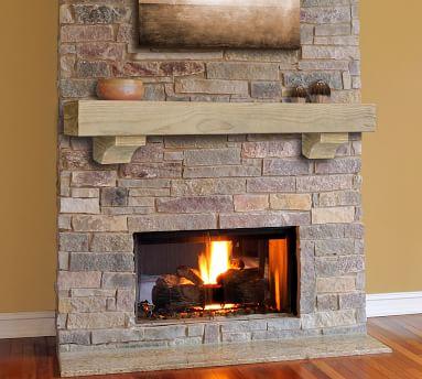 """Ryker Fireplace Mantel, Tan - 72"""""""