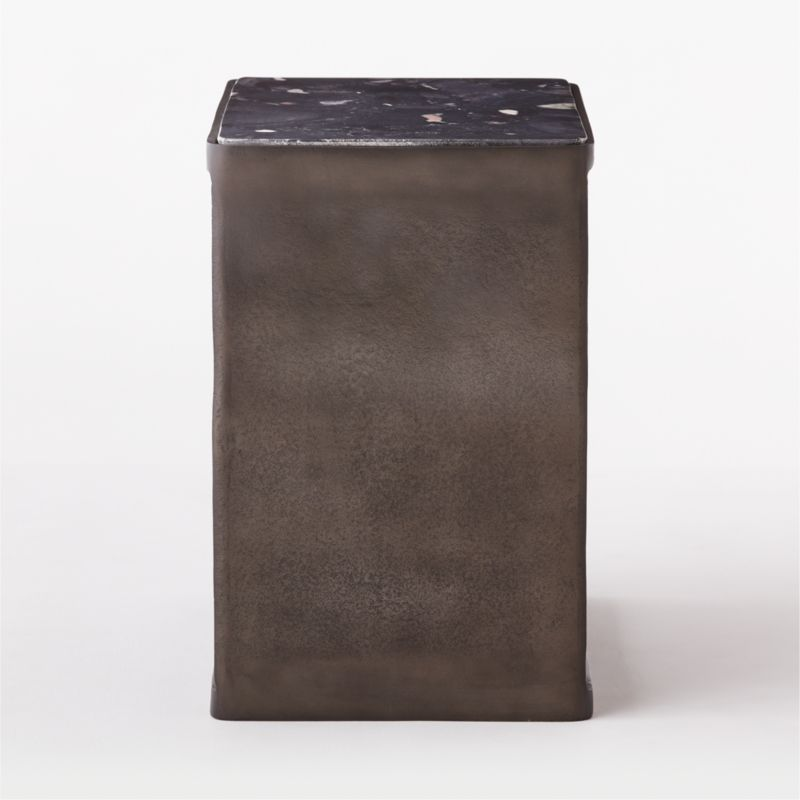 Quarry Black Marble Side Table