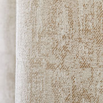 "Woodland Shine Jacquard Curtain, Brick Dust, 48""x96"""