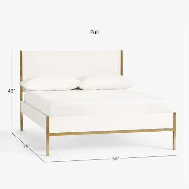 Blaire Classic Platform Bed, Full, Lacquered Simply White, In-Home
