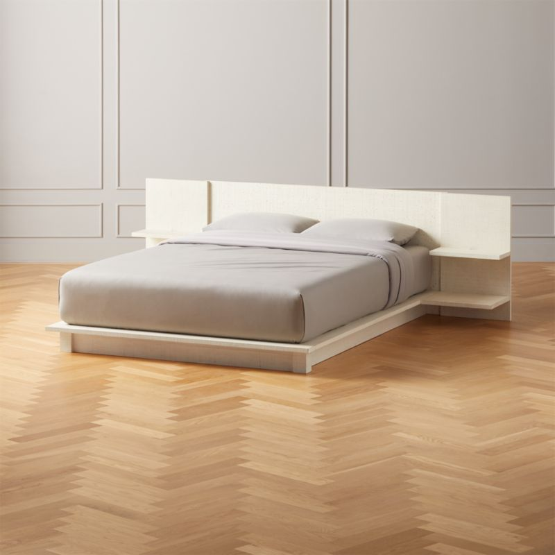 Andes Lacquered Linen Queen Bed