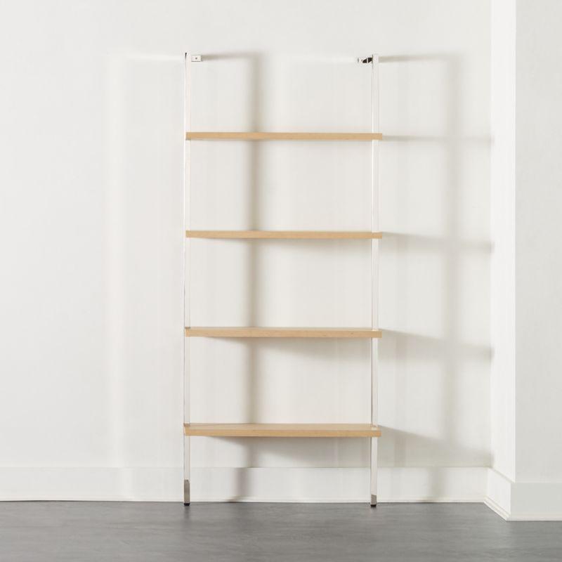 "Helix 70"" Bleached Oak Bookcase"