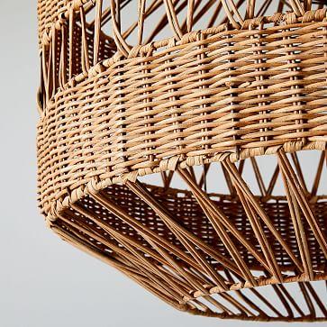 Rattan Weave Pendant, Large