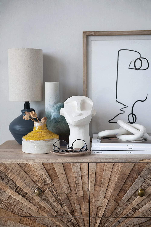 Marble Chain Figure, White