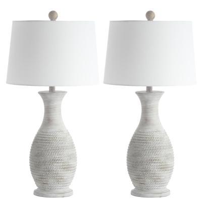 Safavieh Bentlee 30 in. Grey Table Lamp (Set of 2)