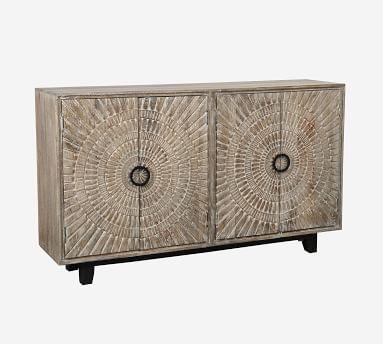Tegan Storage Cabinet, Natural Gray