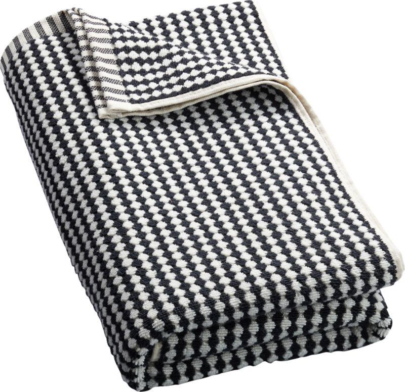 Lena Black and White Bath Towel