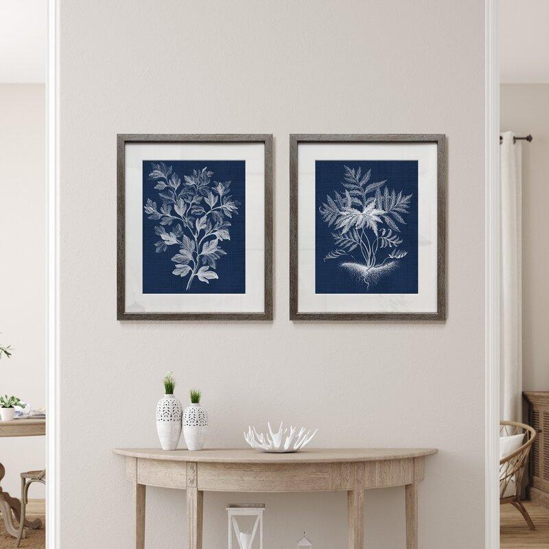 Lustr Foliage Chintz Picture Frame Print Set on Paper, Set of 2