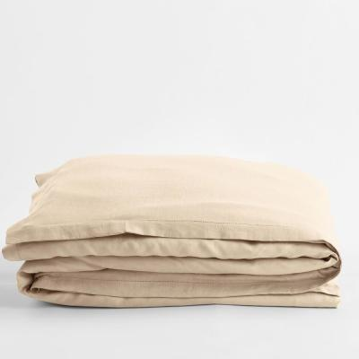 The Company Store Solid Washed Parchment Linen King Duvet Cover
