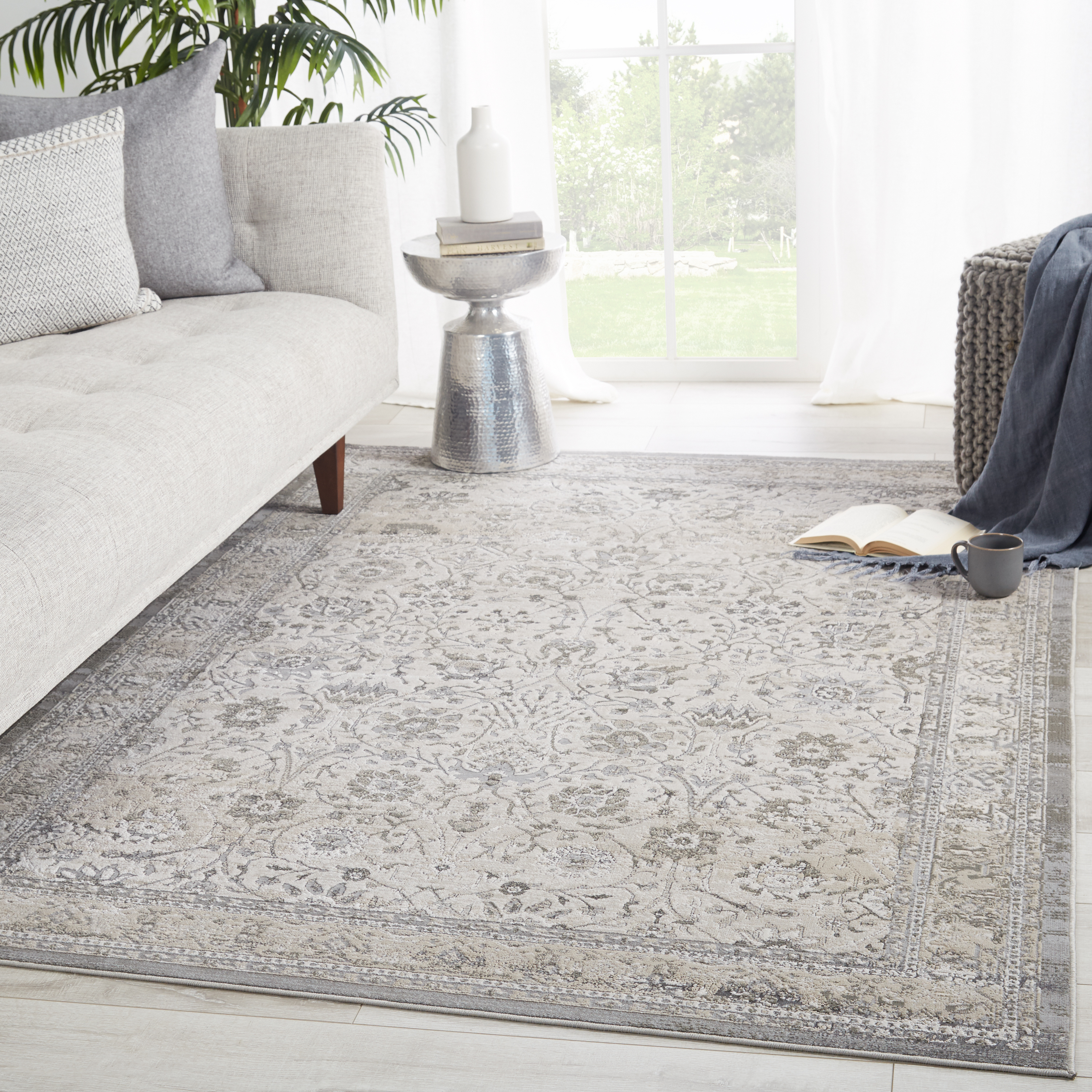 """Vibe by Odel Oriental Gray/ White Area Rug (7'10""""X10'6"""")"""