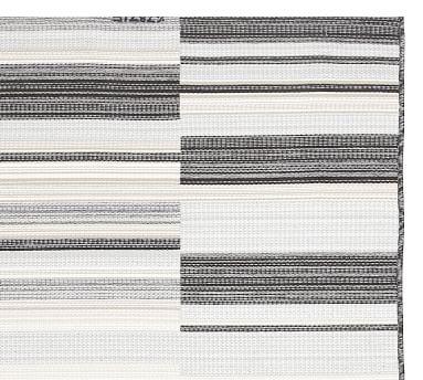 Niley Reversible Synthetic Rug, 8' x 10', Charcoal Multi