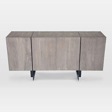 Tiburon Sideboard, Large, Wood + Iron, Pale Gray