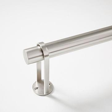 """Simple Metal Rod Brushed Nickel 60""""-108"""""""
