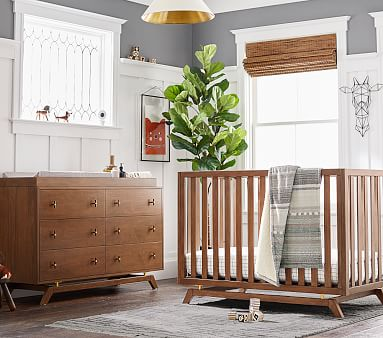 Lennox Extra Wide Dresser and Topper Set, Walnut, Flat Rate