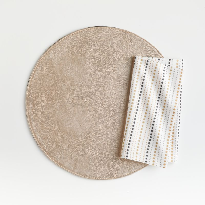 Maxwell Gold Round Easy-Care Placemat