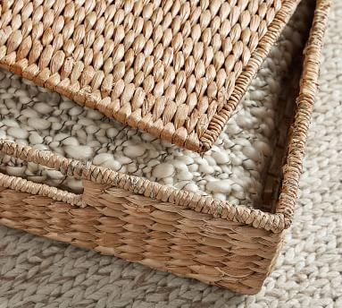 Seagrass Lidded Underbed Basket, Savannah Natural