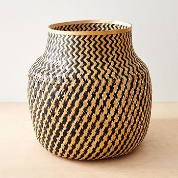 Lantern Baskets, Medium, Natural + Black
