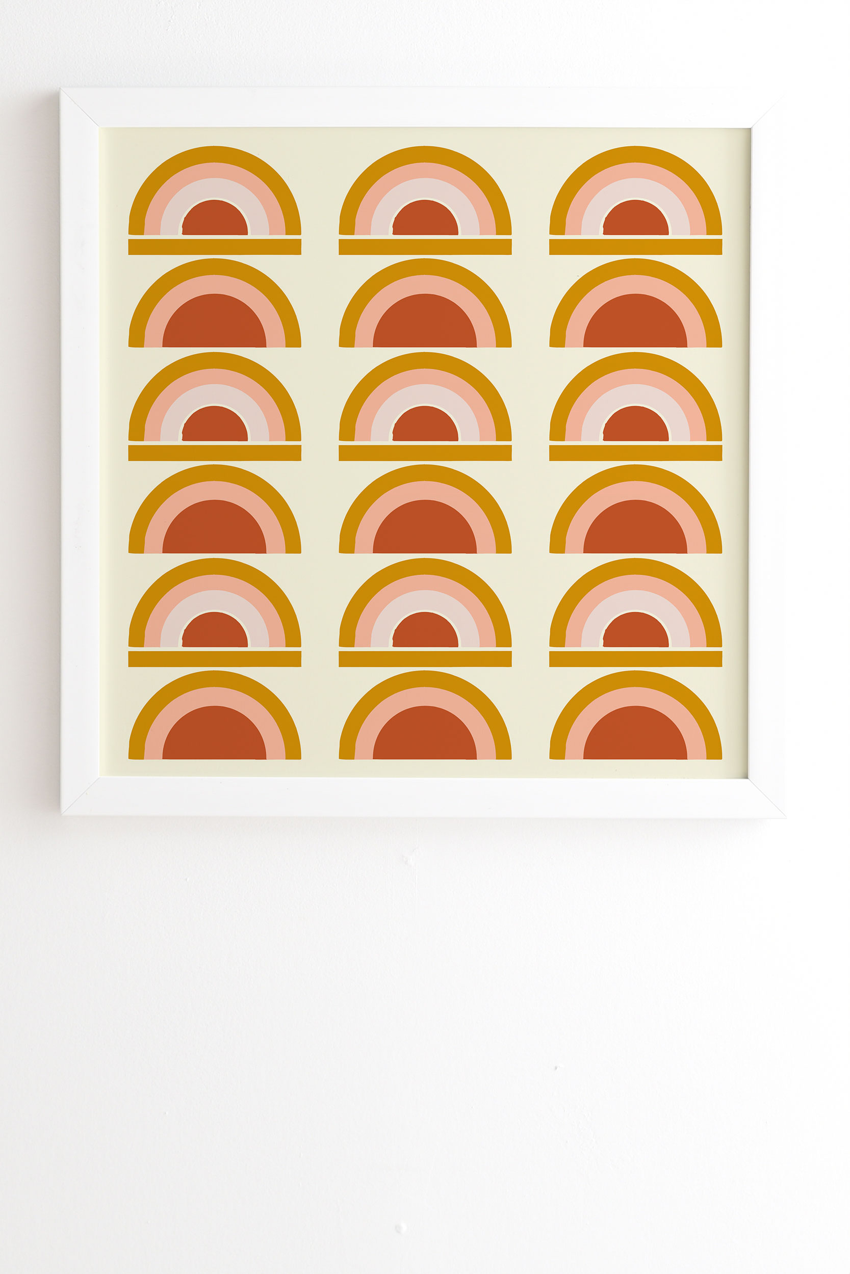 "Last Rainbow by Grace - Framed Wall Art Basic White 14"" x 16.5"""