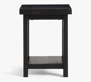 Reed End Table, Antique Umber