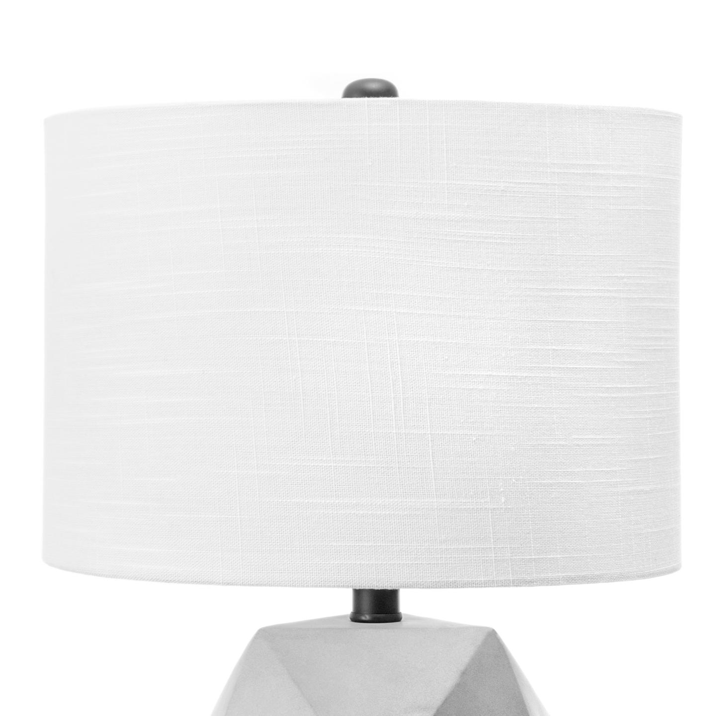 """Clairton 20"""" Cement Table Lamp"""