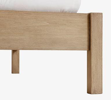 Square Leg Wood Platform Bed, Seadrift, King