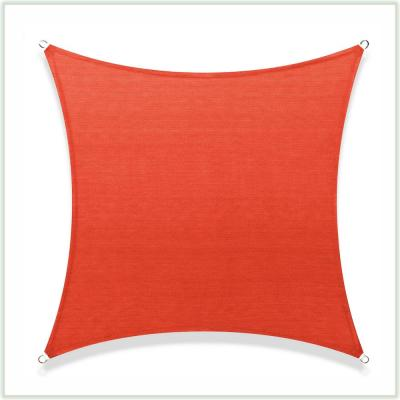 COLOURTREE 16 ft. x 16 ft. 190 GSM Red Square Sun Shade Sail