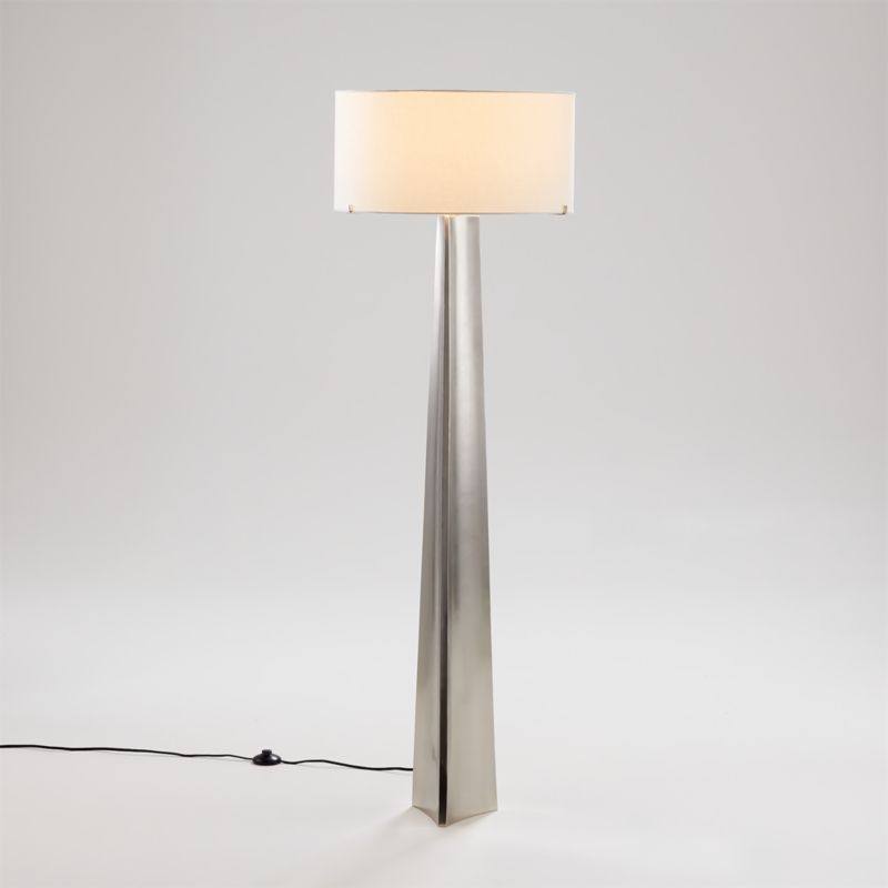 Isla Pewter Triangle Floor Lamp