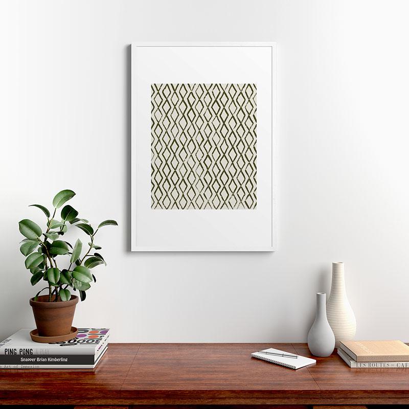 "Simple Hand Drawn Pattern Vi by Alisa Galitsyna, Modern Framed Art Print, White, 24"" x 36"""