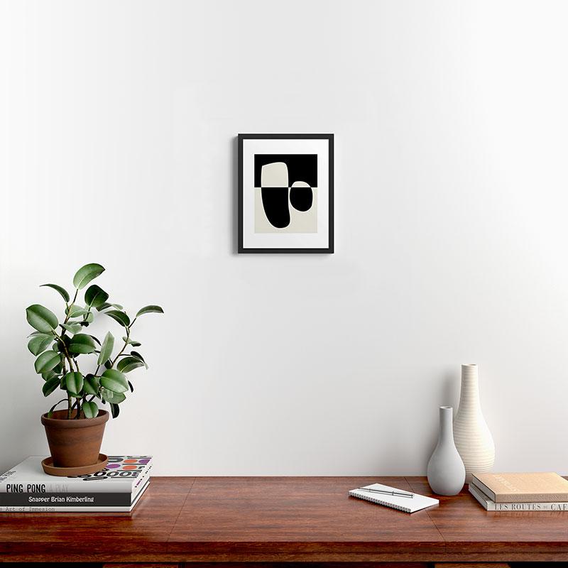 "Reverse 02 by mpgmb, Modern Framed Art Print, Black, 14"" x 11"""