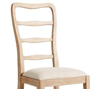 Ashford Side Dining Chair, Lancaster Pine Frame & Erin Linen Oatmeal Seat