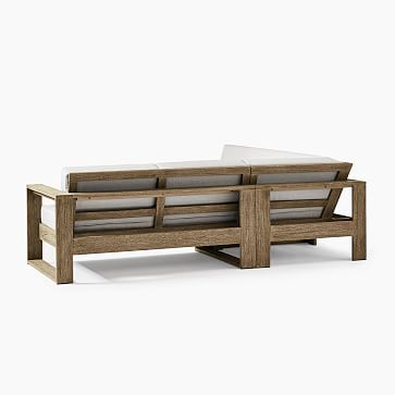 Portside Outdoor 3-Piece Sectional, Driftwood