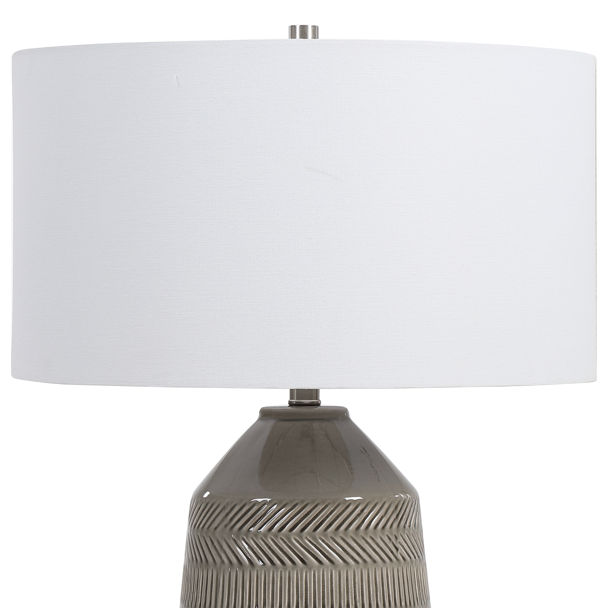 Rewind Gray Table Lamp