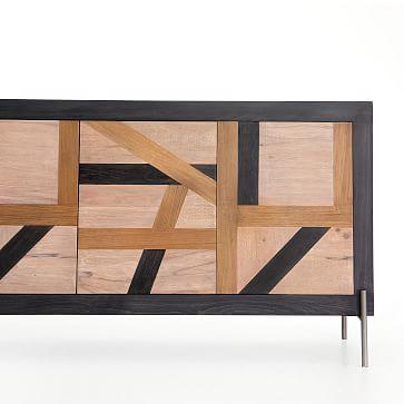 Abstract Wood Inlay Buffet
