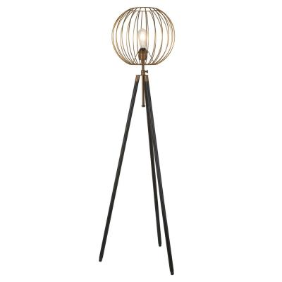 Hudson&Canal Paramon 69 in. Antique Brass Floor Lamp