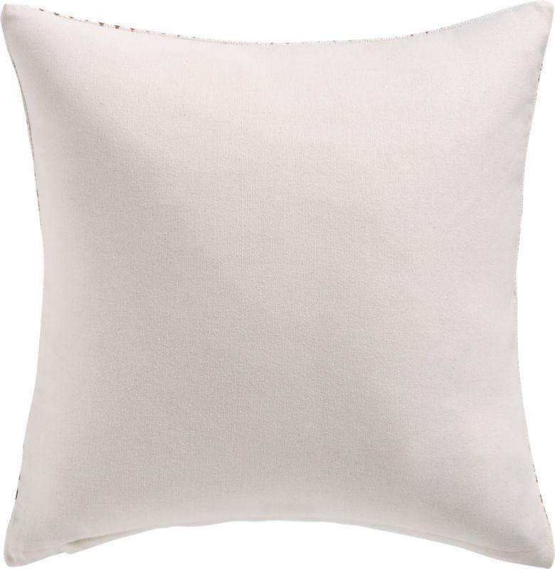"16"" Pentagrid Block Print Gold Pillow with Down-Alternative Insert"