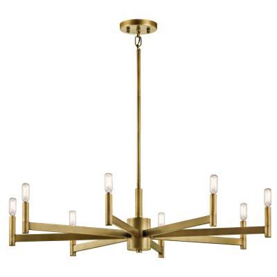 KICHLER Erzo 8-Light Natural Brass Chandelier