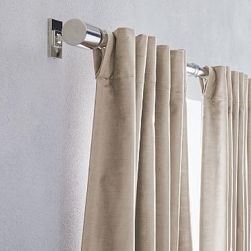 Luster Velvet Curtain Simple Taupe 48x84