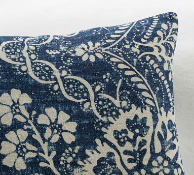 "Bernyce Printed Pillow Cover, 20 x 20"", Indigo Multi"